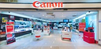 Tienda de Canon en la alameda de Suria KLCC, Kuala Lumpur Fotografía de archivo