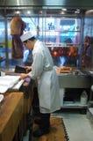 Tienda de carne china Foto de archivo libre de regalías