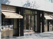 Tienda de Cartier en Barcelona Foto de archivo libre de regalías