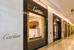 Tienda de Cartier en la alameda de Siam Paragon, Bangkok Foto de archivo