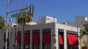 Tienda de Cartier en Rodeo Drive en Beverly Hills - CALIFORNIA, los E.E.U.U. - 18 DE MARZO DE 2019 almacen de metraje de vídeo