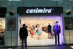 Tienda de Casimira en Hong-Kong Imagen de archivo libre de regalías