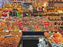 Tienda de chucherías, Barcelona imagen de archivo