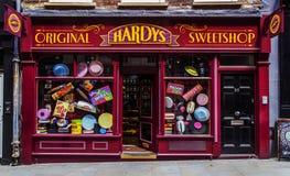 Tienda de chucherías Hardys Sweetshop de Londres de la arquitectura Foto de archivo libre de regalías