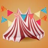 Tienda de circo con las banderas Imagen de archivo libre de regalías