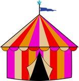 Tienda de circo rayada colorida Imagen de archivo libre de regalías