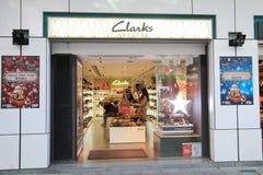 Tienda de Clarks en el kveekoong de hong Imagenes de archivo