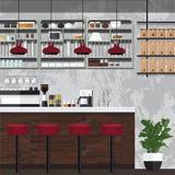 Tienda de Coffe retra Imagen de archivo libre de regalías