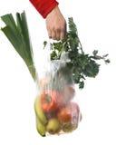 Tienda de comestibles-bolso Imagen de archivo libre de regalías