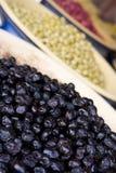 Tienda de comestibles verde oliva Imágenes de archivo libres de regalías