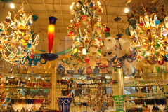 Tienda de cristal de Venecia, Italia imagenes de archivo