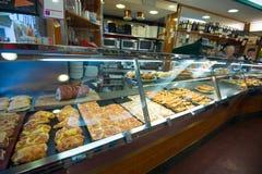 Tienda de delicatessen italiana Fotografía de archivo libre de regalías