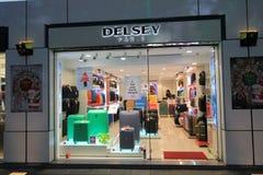 Tienda de Delsey en Hong-Kong Imagenes de archivo