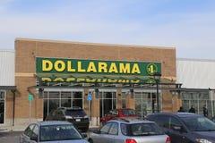 Tienda de Dollarama Fotos de archivo libres de regalías