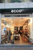 Tienda de Ecco en Hong-Kong Imágenes de archivo libres de regalías