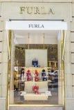 Tienda de Furla, Barcelona Fotografía de archivo libre de regalías