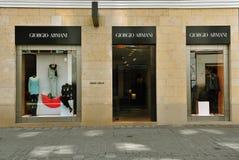 Tienda de Giorgio Armani en Viena, Austria Foto de archivo libre de regalías