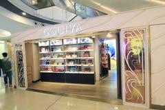 Tienda de Godiva en Hong-Kong Foto de archivo libre de regalías