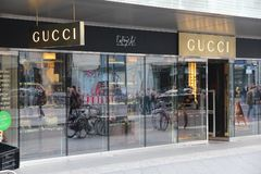 Tienda de Gucci Imagenes de archivo