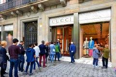 Tienda de Gucci en Barcelona, España Foto de archivo libre de regalías