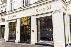 Tienda de Gucci en Berlín, Alemania. Imagen de archivo libre de regalías
