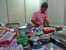 Tienda de Halwa Imagen de archivo libre de regalías