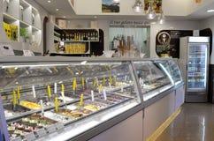Tienda de helado italiana Imagen de archivo libre de regalías