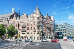 Tienda de Helsinki, Finlandia Stockmann en el centro de Helsinki foto de archivo