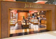 Tienda de Jim Thompson en la alameda de Siam Paragon, Bangkok Imagen de archivo libre de regalías