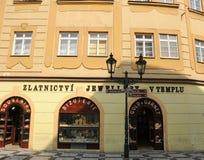 Tienda de joyería en Praga Imagen de archivo