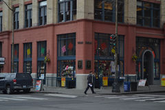 Tienda de juguete en el cuadrado pionero, Seattle, Washington Foto de archivo libre de regalías