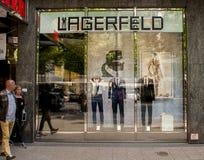 Tienda de Karl Lagerfeld en Berlín fotografía de archivo libre de regalías