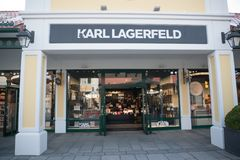 Tienda de Karl Lagerfeld en Parndorf, Austria foto de archivo