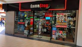 Tienda de la alameda de GameStop imágenes de archivo libres de regalías