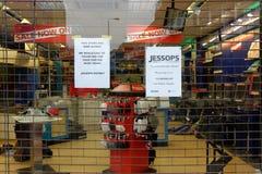 Tienda de la cámara de Jessops cerrada abajo en la calle principal Putney en Londres Imagen de archivo