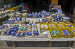 Tienda de la cerámica en Hoi An, Vietnam Fotografía de archivo libre de regalías