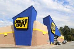 Tienda de la electrónica de Best Buy imágenes de archivo libres de regalías