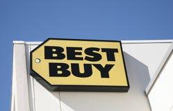 Tienda de la electrónica de Best Buy foto de archivo