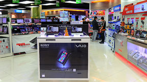 Tienda de la electrónica en Hong-Kong fotografía de archivo libre de regalías