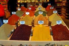 Tienda de la especia en Estambul Foto de archivo libre de regalías