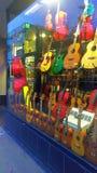Tienda de la guitarra en Halifax, Nova Scotia Fotos de archivo