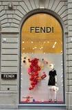 Tienda de la marca de la moda de Fendi en Florencia, Italia Fotos de archivo