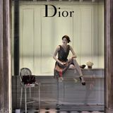 Tienda de la moda de Dior Imagen de archivo