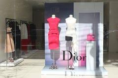Tienda de la moda de Dior en Rumania Imágenes de archivo libres de regalías