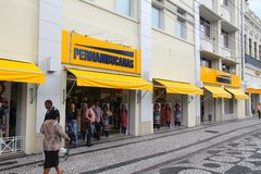 Tienda de la moda del Brasil Imagen de archivo libre de regalías