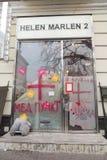 Tienda de la moda transformada al centro médico imagen de archivo libre de regalías