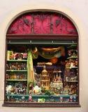 Tienda de la Navidad en el der Tauber del ob de Rothenburg imagenes de archivo