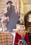 Tienda de la Navidad de recuerdos y de la joyería en la ciudad de Sainte-Andr en Hungría Fotos de archivo