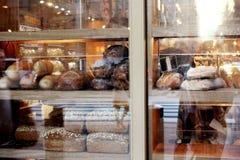 Tienda de la panadería en New York City Imágenes de archivo libres de regalías