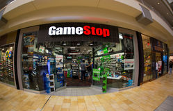 Tienda de la parada del juego fotografía de archivo libre de regalías